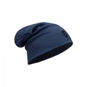 Czapka Buff Heavyweight Merino Wool Hat Loose Fit SOLID DENIM