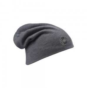Czapka Buff Heavyweight Merino Wool Hat Loose Fit SOLID GREY