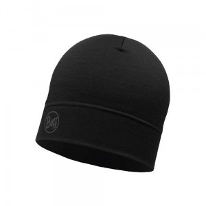 Czapka Buff Lightweight Merino Wool Hat SOLID BLACK