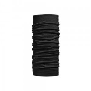 Chusta Buff Lightweight Merino Wool SOLIDBLACK