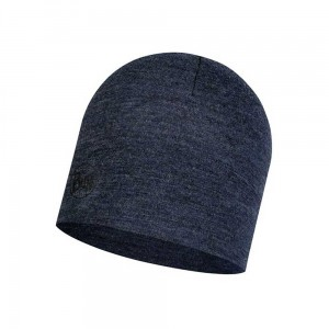 Czapka Buff Midweight Merino Wool Hat NIGHT BLUE MELANGE