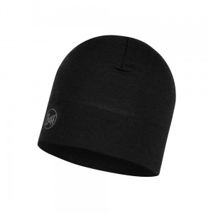 Czapka Buff Midweight Merino Wool Hat SOLID BLACK