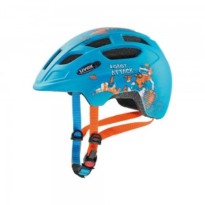 Kask rowerowy Uvex Finale Junior CC petrol robot mat (15)