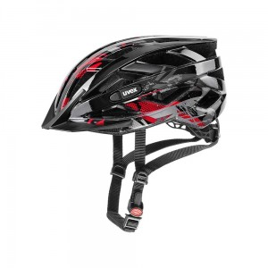 Kask rowerowy Uvex Air Wing black-red
