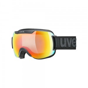 Gogle Uvex Downhill 2000 V black mat mirror rainbow