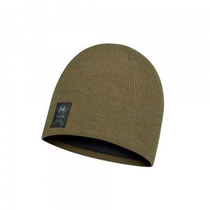 Czapka Buff Knitted & Fleece Hat Solid Bark