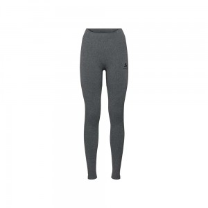 Spodnie damskie Odlo Performance Warm Baselayer Pants grey melange-black S