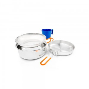 Zestaw naczyń GSI Glacier Stainless 1 Person Mess Kit