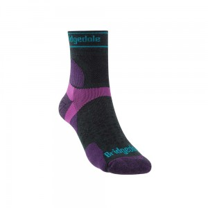 Skarpety Bridgedale Ultralight T2 Merino Sport 3/4 Crew charcoal/purple M 38-40
