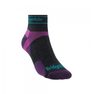 Skarpety Bridgedale Ultralight T2 Merino Sport Low charcoal/purple S 35-37