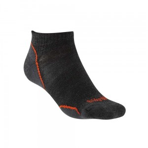 Skarpety Bridgedale Ultralight T2 Merino P Low anthracite/orange M 40-43