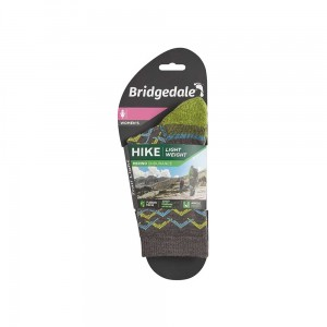 Skarpety Bridgedale Hike Lightweight Merino E 3/4 brown/lime L 41-43