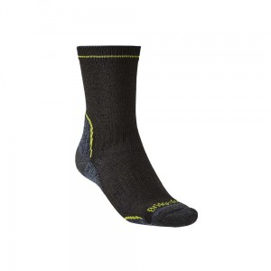 Skarpety Bridgedale Hike Lightweight T2 Coolmax P black/lime S 36-39