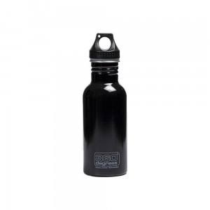 Butelka 360 Degrees Stainless Single Wall Bottle 550ml Black