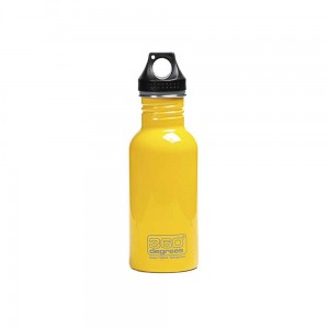 Butelka 360 Degrees Stainless Single Wall Bottle 550ml Yellow