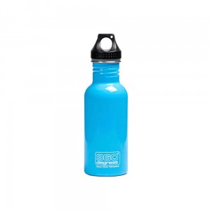 Butelka 360 Degrees Stainless Single Wall Bottle 550ml Sky Blue