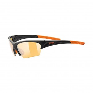 Okulary sportowe Uvex Sunsation black mat orange