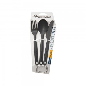 Sztućće Sea To Summit Camp Cutlery Set Charcoal