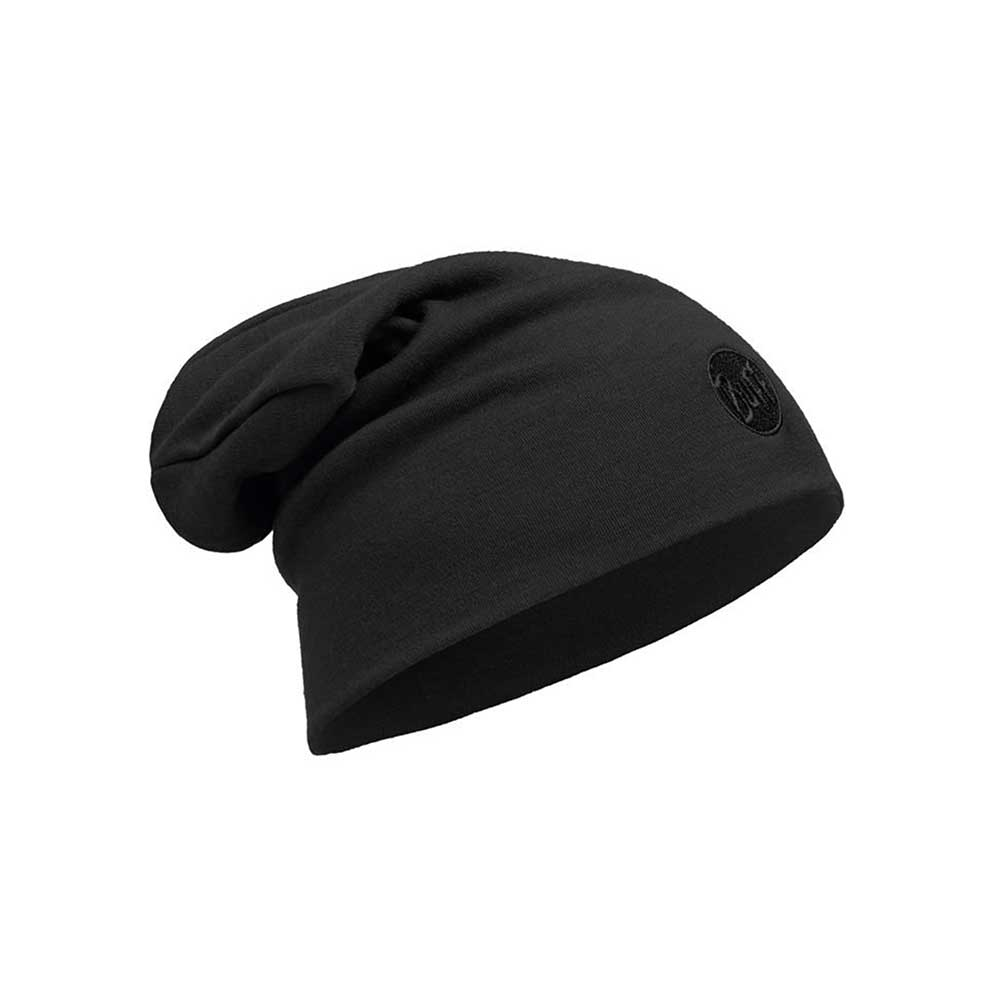 Czapka Buff Heavyweight Merino Wool Hat Loose Fit SOLID BLACK