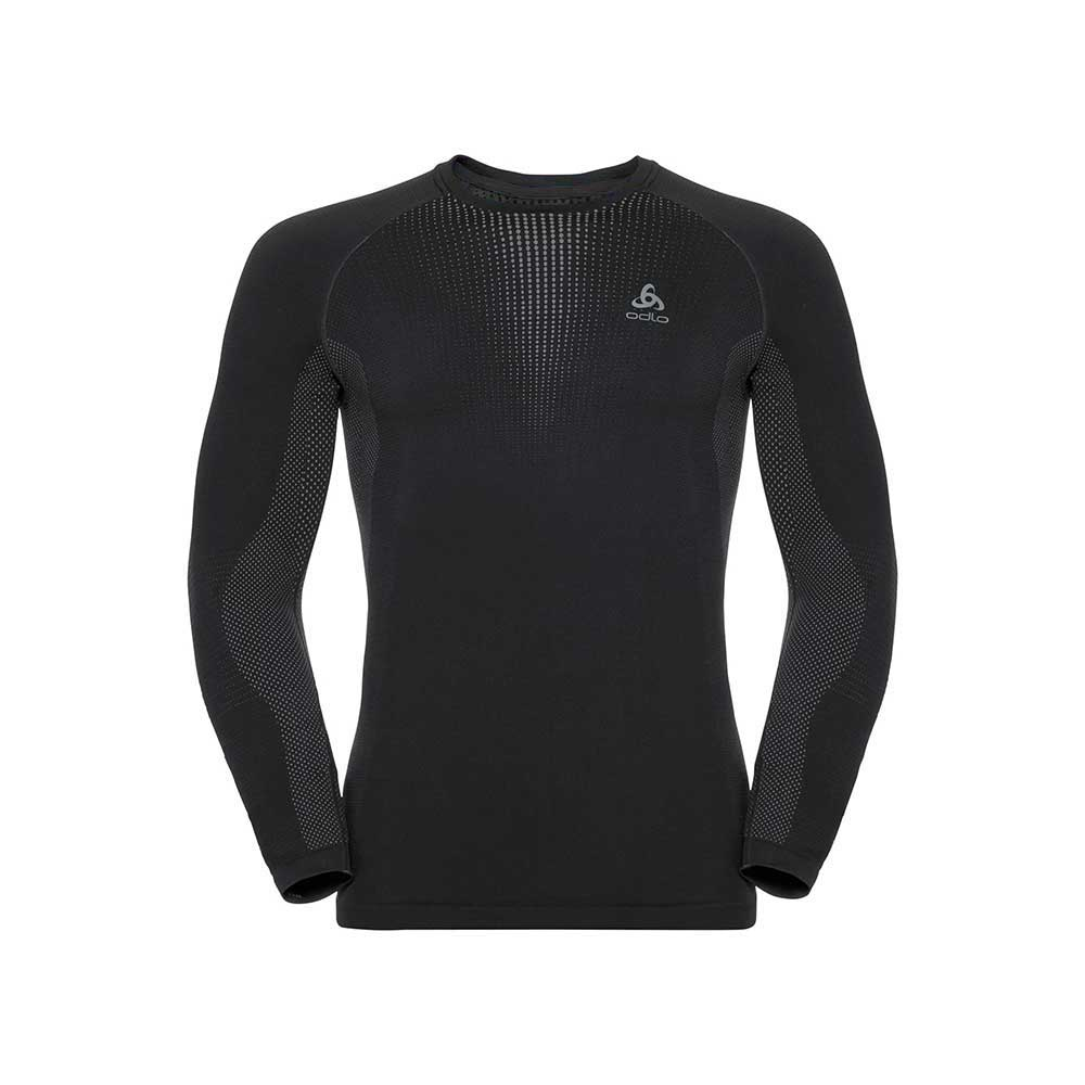 Koszulka męska Odlo Performance Warm Baselayer Top black-odlo concrete grey L